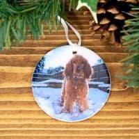 Photo Christmas Tree Bauble